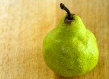 Pear shape with copy space Royalty Free Stock Photography