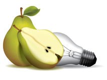 Pear shape light bulb Royalty Free Stock Image