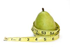 Pear Shaped Mearsurement Royalty Free Stock Images