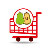 Pear shopping cart graphic Stock Photo