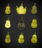 Pear sign Stock Photos