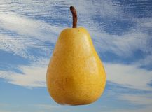 Pear with sky background Royalty Free Stock Image