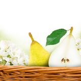 Pear with slice Stock Image