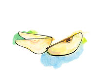 Pear slices Royalty Free Stock Photography