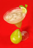 Pear smoothie 2. Pear and mint smoothie with ice cubes royalty free stock photo
