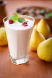 Pear smoothie Royalty Free Stock Images