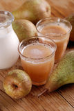 Pear smoothie with cinnamon Stock Photos