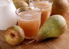 Pear smoothie with cinnamon Royalty Free Stock Photo