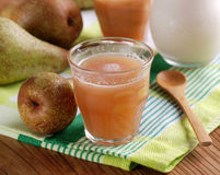 Pear smoothie with cinnamon Stock Photography