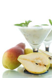 Pear smoothie Royalty Free Stock Image