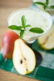 Pear smoothie Stock Image