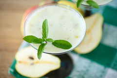Pear smoothie Stock Photography