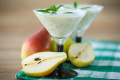 Pear smoothie Royalty Free Stock Photo