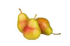 Pear som isoleras på vit Arkivbilder