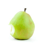 Pear that someone took a bite out of Royalty Free Stock Photo