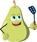 Pear with a spatula Stock Photography
