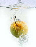 Pear splash Stock Photo