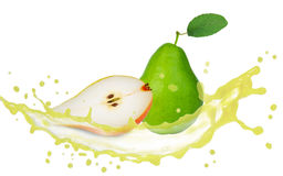 Pear splash Royalty Free Stock Photography