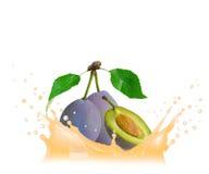 Pear splash Stock Photo