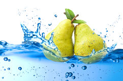Pear splash Stock Image
