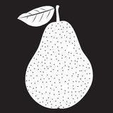 Pear stencil with leaf Royalty Free Stock Photography