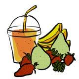 Pear Strawberrie Banana Smoothie Stock Photos