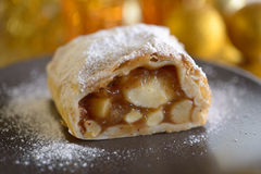 Pear strudel Stock Photos