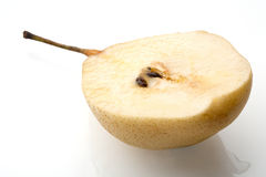 Pear studio shot. Juicy pear on white background stock photos