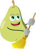 Pear sweeping with broom Stock Photography