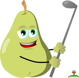Pear swinging his golf club Stock Photo
