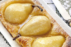 Pear Tart Stock Photo