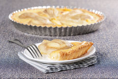 Pear tart Royalty Free Stock Image