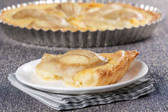 Pear tart Royalty Free Stock Images