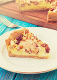 Pear tart with nuts and cottage cheese royalty free stock photography