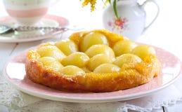 Pear tarte tatin Stock Photos