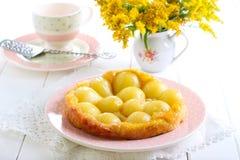 Pear tarte tatin Stock Image