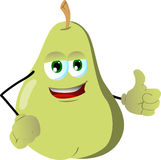 Pear with thumb up Stock Image