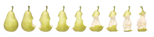 Pear Time Lapse Royalty Free Stock Photography