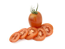 Pear tomato. Es whole and cut Stock Photography