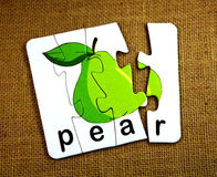 Pear toy Royalty Free Stock Image