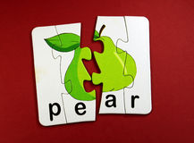Pear toy Stock Image