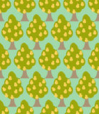 Pear tree seamless pattern. Orchard background. Garden trees orn Royalty Free Stock Photos