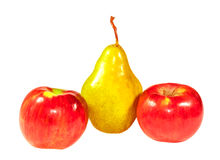 Pear and two apples Royalty Free Stock Photo