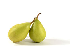 Pear. Two green pears on white background Stock Photography