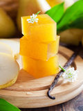 Pear vanilla marmalade Stock Photography