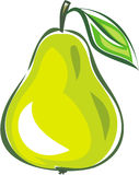 Pear (Vector). Vector illustration isolated on white background - Pear Stock Images