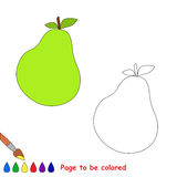 Pear vector cartoon to be colored. Royalty Free Stock Photos