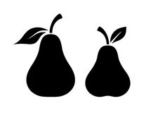 Pear vector silhouette icon Stock Image