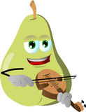 Pear with violin Stock Photography