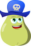 Pear wearing pirate hat Stock Photos